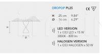 Потолочный светильник DROPOP PL Masiero