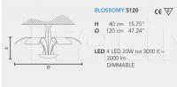 Подвесной светильник BLOSSOMY LED S3 120 Masiero