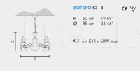 Подвесной светильник BOTERO S3+3 Masiero