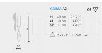 Настенный светильник ANIMA A2 Masiero