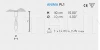 Потолочный светильник ANIMA PL1 Masiero