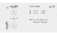 Потолочный светильник SASSO APL3 Masiero