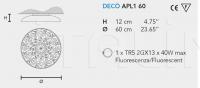 Потолочный светильник DECO PL1 Masiero