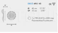 Настенный светильник DECO APL1 45 Masiero