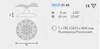 Подвесной светильник DECO S1 60 Masiero