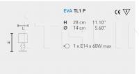 Настольный светильник EVA TL1 P Masiero