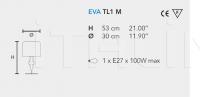 Настольный светильник EVA TL1 M Masiero