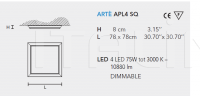 Потолочный светильник ARTE LED APL4 Masiero