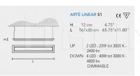Подвесной светильник ARTE LED LINEAR S1 Masiero