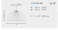 Подвесной светильник DOME S5/S4 Masiero