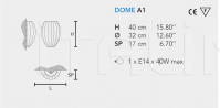 Настенный светильник DOME A1 Masiero