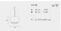Подвесной светильник MIR S2 Masiero