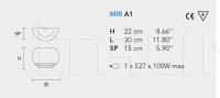 Настенный светильник MIR A1 Masiero