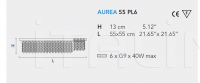 Потолочный светильник AUREA 55 PL6 Masiero