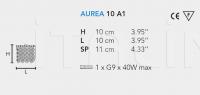 Настенный светильник AUREA 10 A1 Masiero