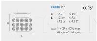 Потолочный светильник CUBIX PL1 Masiero