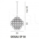 Подвесной светильник GIOGALI SP 50 Vistosi