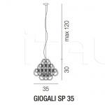 Подвесной светильник GIOGALI SP 35 Vistosi