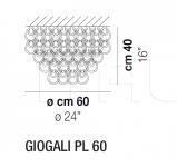 Потолочный светильник GIOGALI PL 80/60/50 Vistosi