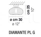 Потолочный светильник DIAMANTE PL Vistosi