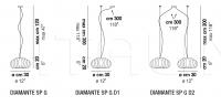 Подвесной светильник DIAMANTE SP G Vistosi