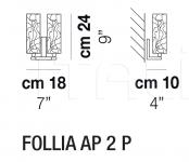 Настенный светильник FOLLIA AP 2 Vistosi