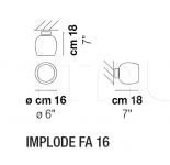 Настенный светильник IMPLODE FA 16 Vistosi