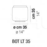 Настольный светильник BOT LT 35 Vistosi