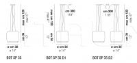 Подвесной светильник BOT SP 35 Vistosi