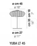 Настольный светильник YUBA LT 45 Vistosi