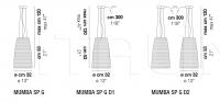 Подвесной светильник MUMBA SP G Vistosi