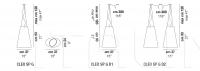 Подвесной светильник CLEO SP G Vistosi