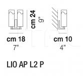 Настенный светильник LIO AP L2 P Vistosi