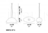 Подвесной светильник NINFEA SP G Vistosi