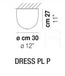 Потолочный светильник DRESS PL Vistosi