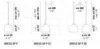 Подвесной светильник DRESS SP P Vistosi