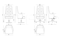 Кресло Sevigne Office IPE Cavalli (Visionnaire)