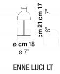Настольный светильник ENNE LUCI Vistosi