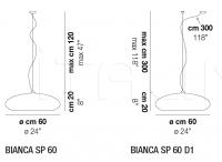 Подвесной светильник BIANCA Vistosi