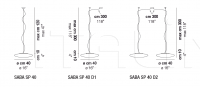 Подвесной светильник SABA Vistosi