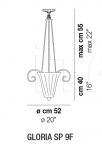Подвесной светильник GLORIA SP 9F Vistosi