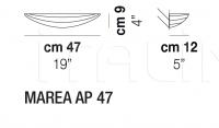 Настенный светильник MAREA AP 47 Vistosi