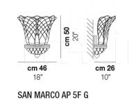 Настенный светильник SAN MARCO AP 5F G Vistosi