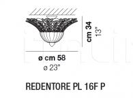 Потолочный светильник REDENTORE PL 16F Vistosi
