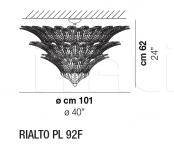 Потолочный светильник RIALTO PL 92F Vistosi