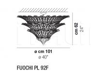 Потолочный светильник FUOCHI PL 92F Vistosi