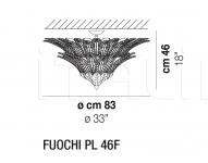 Потолочный светильник FUOCHI PL 46F Vistosi