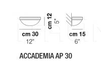 Настенный светильник ACCADEMIA AP 30 Vistosi