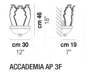 Настенный светильник ACCADEMIA AP 3F Vistosi