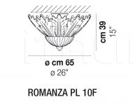 Потолочный светильник ROMANZA PL 10F Vistosi